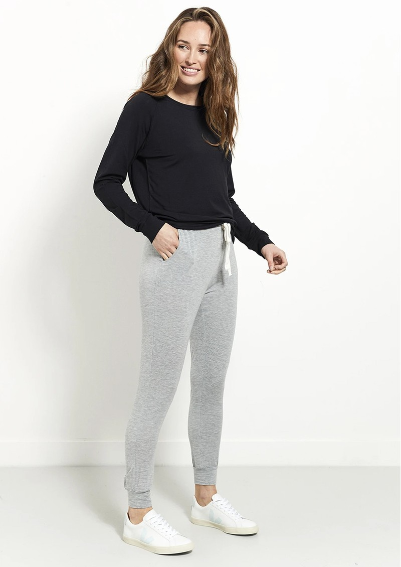 STRIPE & STARE Lounge Pant - Grey Marl main image