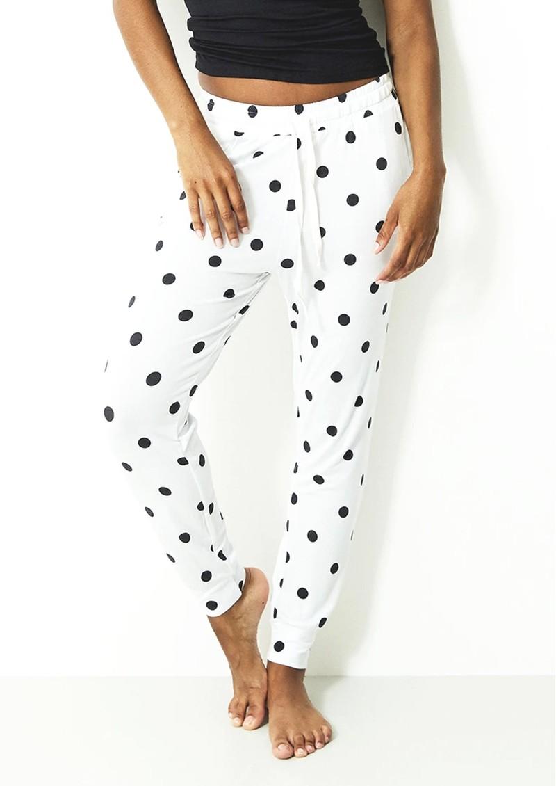 STRIPE & STARE Lounge Pant - Polka Dot main image