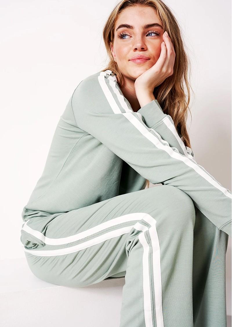 STRIPE & STARE Limited Edition Sweatshirt - Khaki Stripe main image