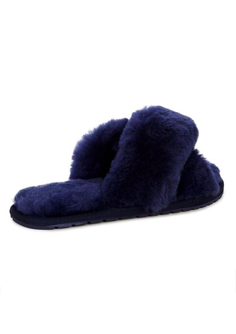 EMU Mayberry Crossover Sheepskin Slipper Slide - Midnight main image