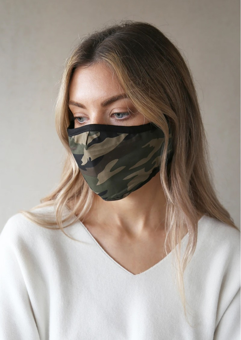 BREATHE Adult Face Mask - Green Camo main image