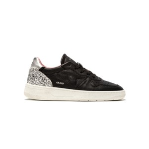 Court Low Top Leather Trainers - Pop Black