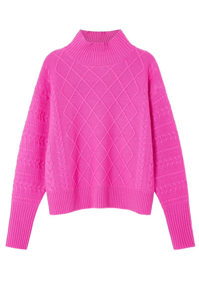 COCOA CASHMERE Holly Cashmere Jumper - Cerise main image