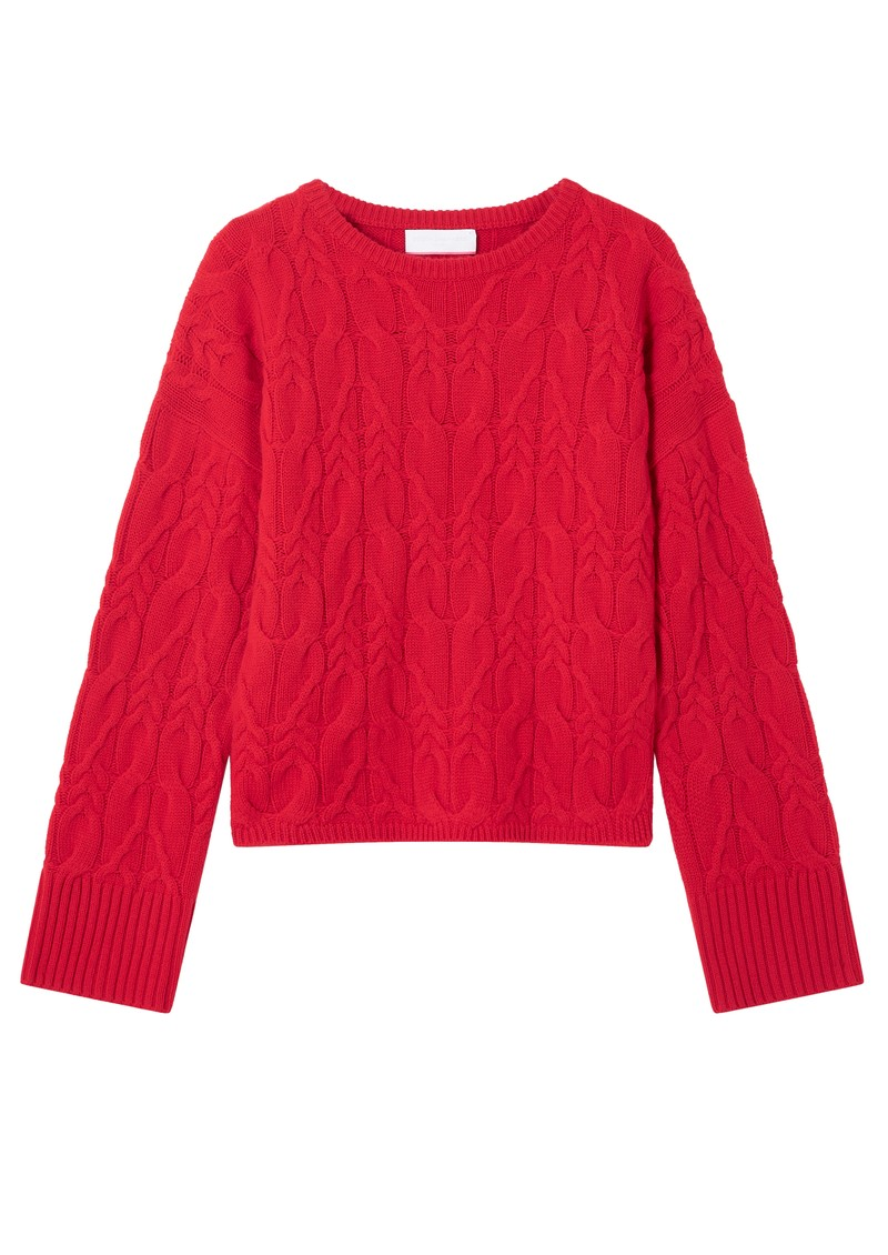 COCOA CASHMERE Kyra Cashmere Jumper - Flame main image