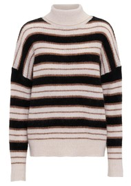 Day Birger et Mikkelsen  Day Essence Striped Turtleneck Jumper - Caramello
