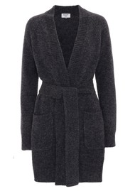 Day Birger et Mikkelsen  Day New Spry Wool Mix Cardigan - Dark Grey Melange