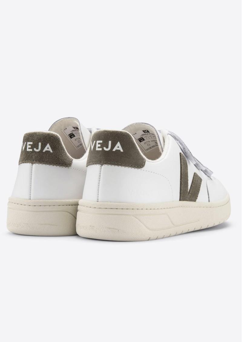 VEJA V- Lock Leather Trainers - Extra White & Kaki main image