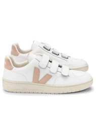 VEJA V- Lock Leather Trainers - Extra White & Sable