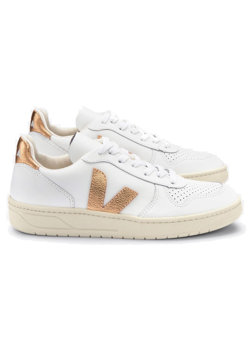 VEJA V-10 Leather Trainers - Extra White & Venus main image