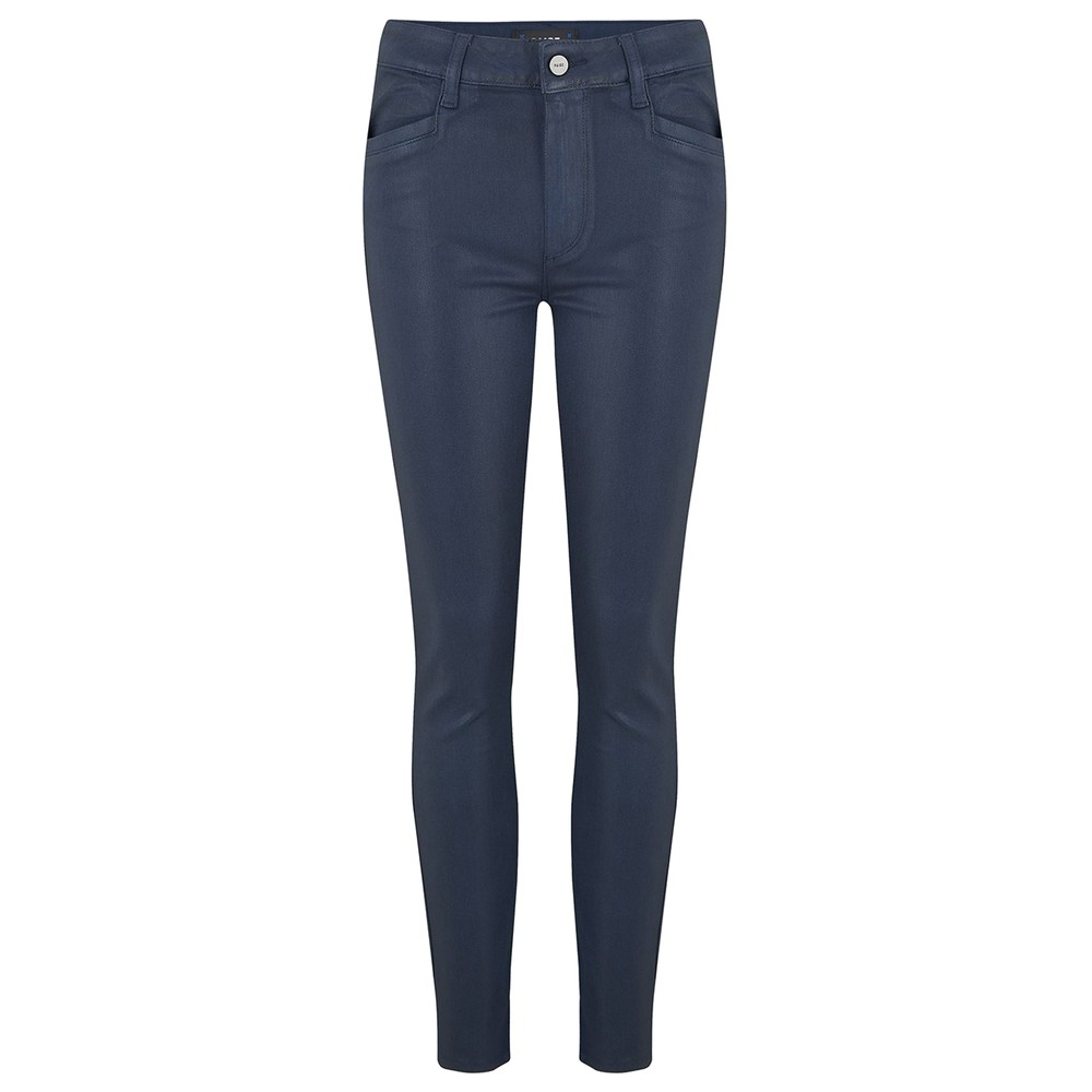 Hoxton Ankle Luxe Coated Skinny Jeans - Deep Sapphire