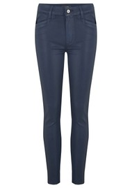 Paige Denim Hoxton Ankle Luxe Coated Skinny Jeans - Deep Sapphire