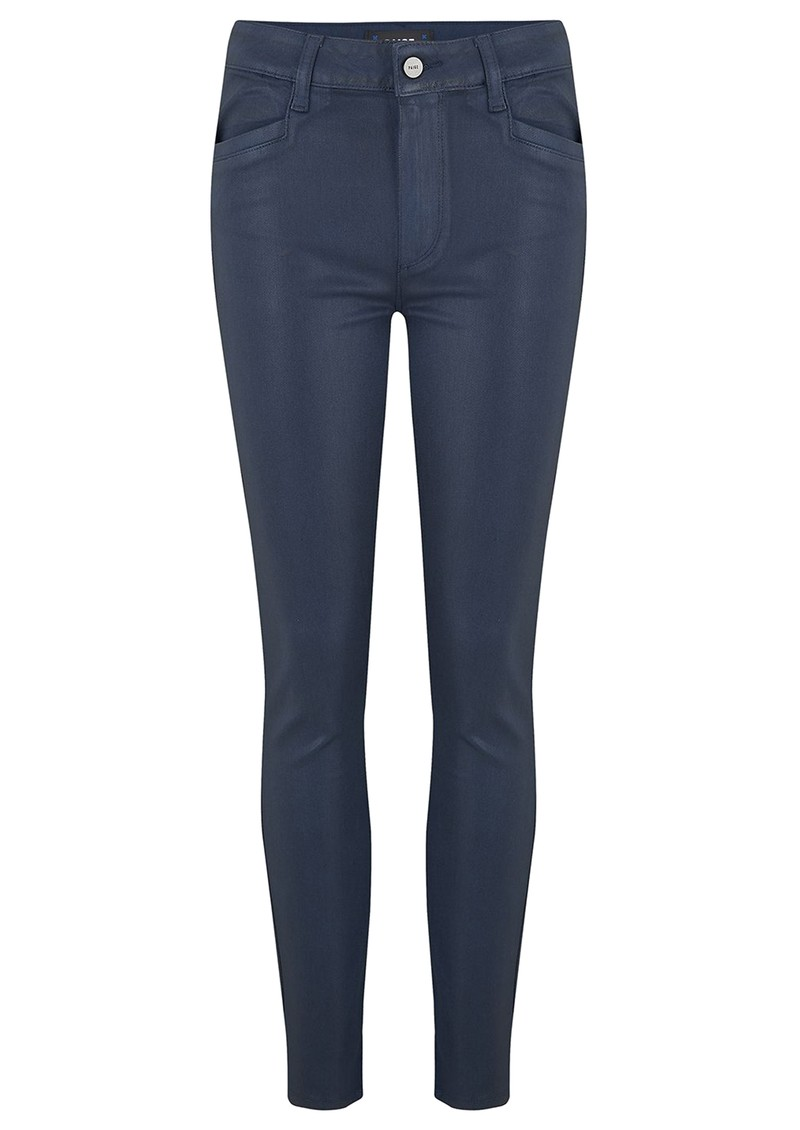 Paige Denim Hoxton Ankle Luxe Coated Skinny Jeans - Deep Sapphire main image