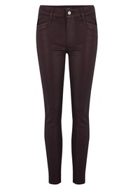 Paige Denim Hoxton Ankle Luxe Coated Skinny Jeans - Vino