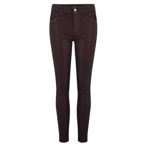 Hoxton Ankle Luxe Coated Skinny Jeans - Vino
