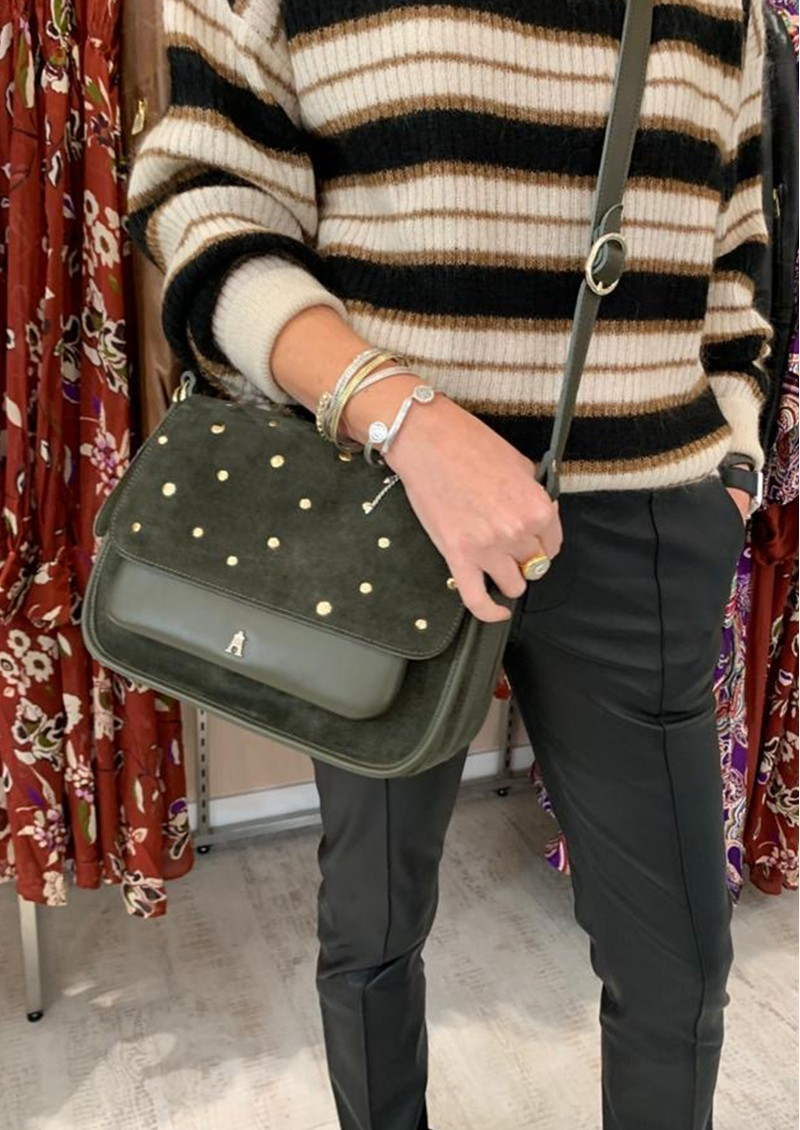 CRAIE Standard Stud Suede & Leather Bag - Caribou main image