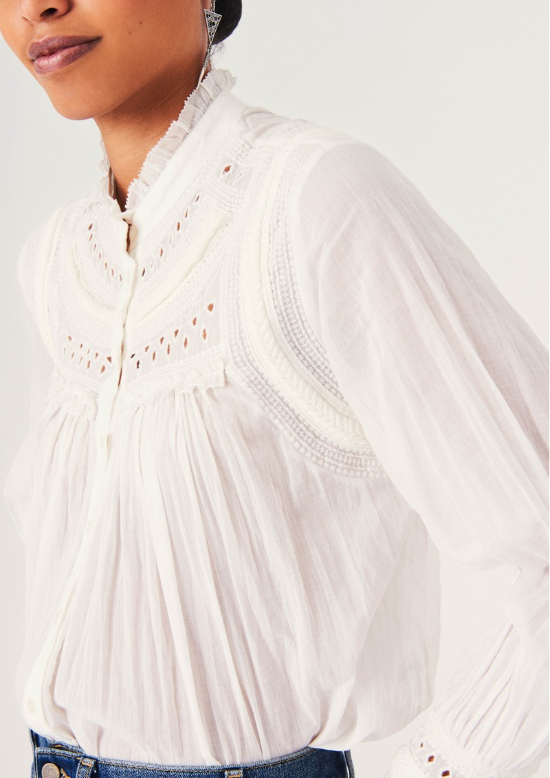 Leaf Cotton Blouse - Off White main image