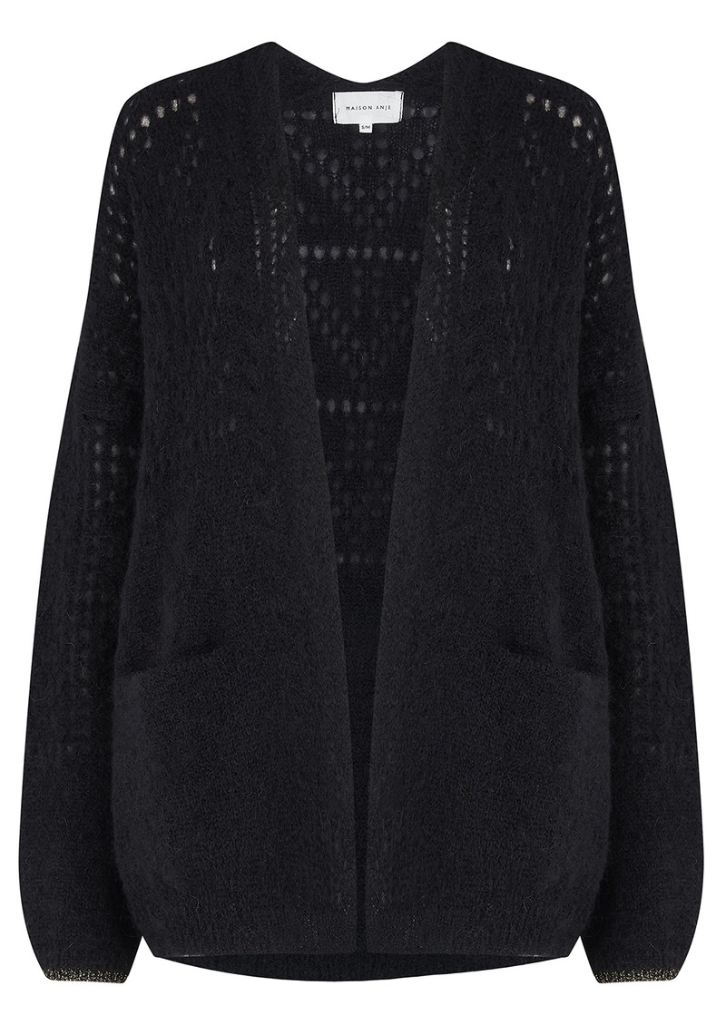 Lanea Mohair Mix Cardigan - Black main image