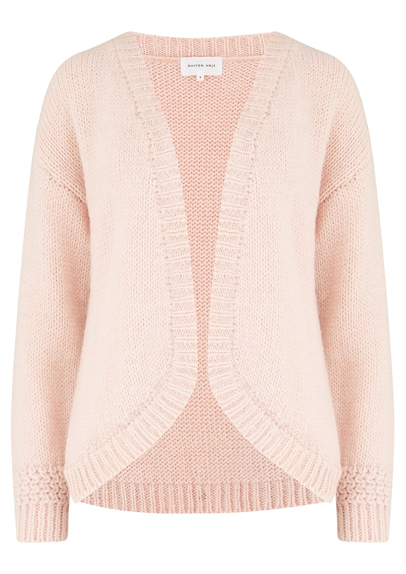 MAISON ANJE Lecambon Wool Mix Cardigan - Macaron main image