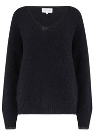 MAISON ANJE Lauguste Wool Mix Jumper - Black