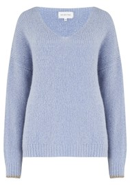 MAISON ANJE Lauguste Wool Mix Jumper - Givre