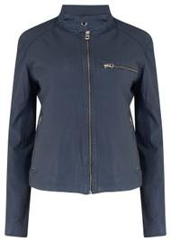 MDK Carli Thin Leather Jacket - Mood Indigo
