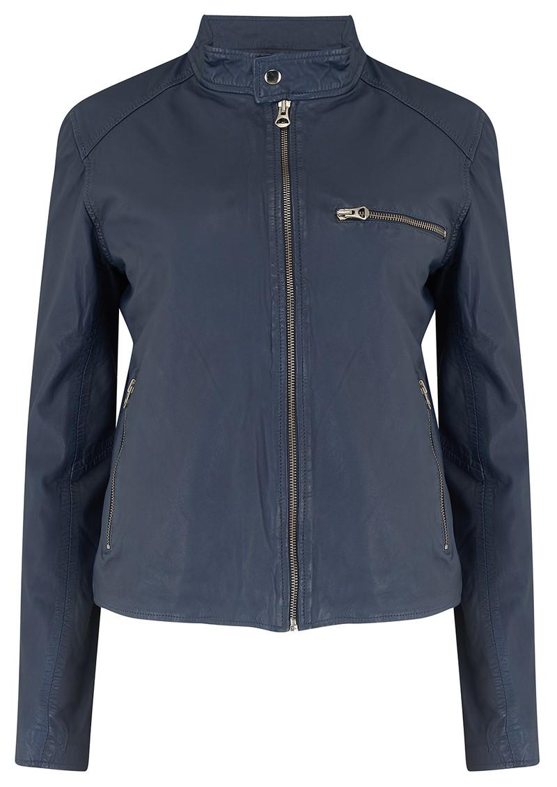 MDK Carli Thin Leather Jacket - Mood Indigo main image
