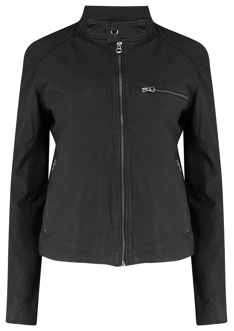 MDK Carli Thin Leather Jacket - Black main image