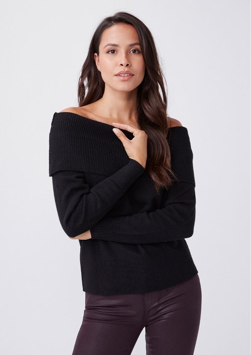 Paige Denim Izabella Wool Mix Jumper - Black main image
