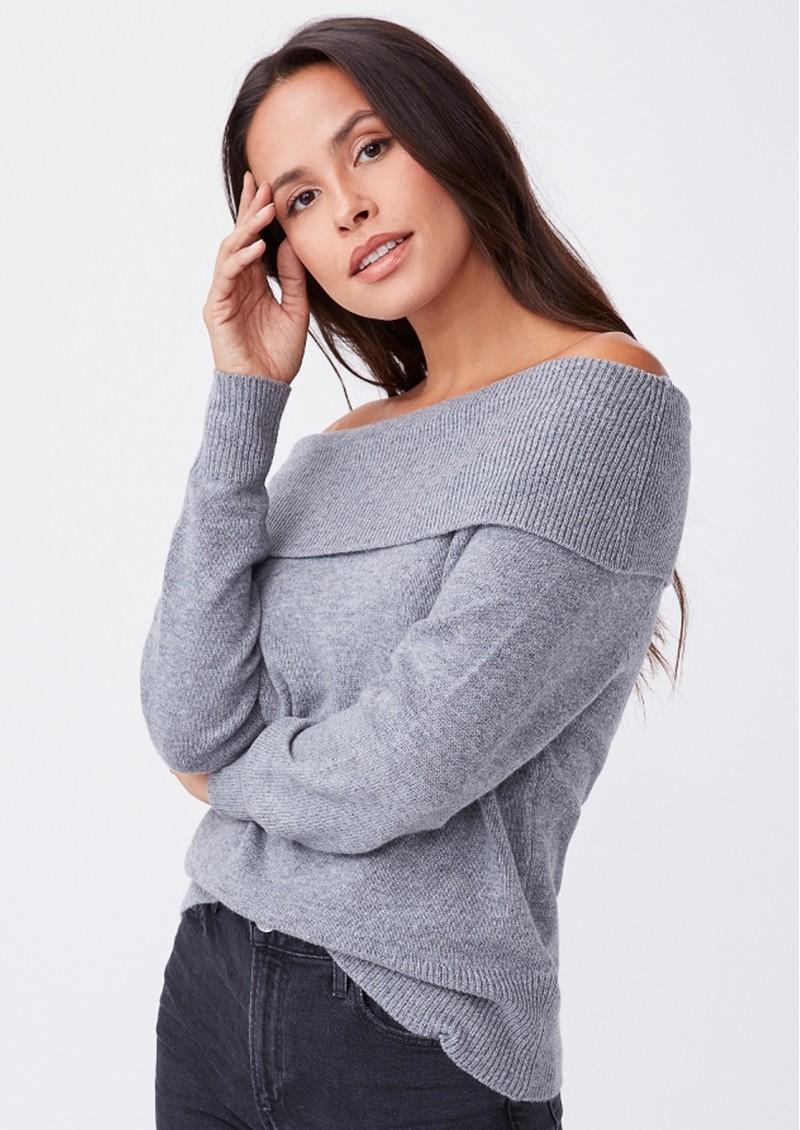 Paige Denim Izabella Wool Mix Jumper - Heather Grey main image