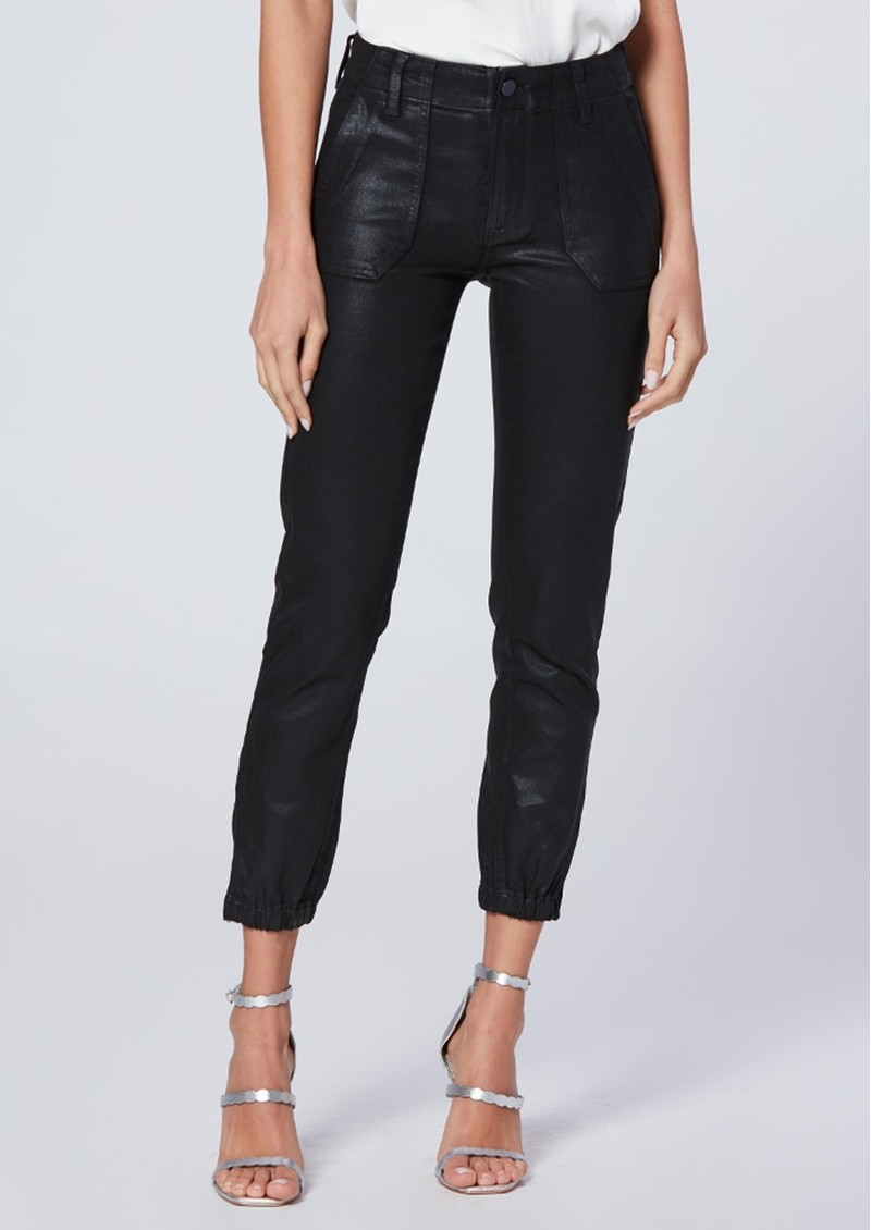 Paige Denim Mayslie Coated Jogger - Black Fog main image