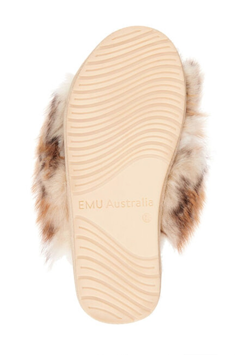 EMU Mayberry Lava Crossover Sheepskin Slipper Slide - Chestnut main image