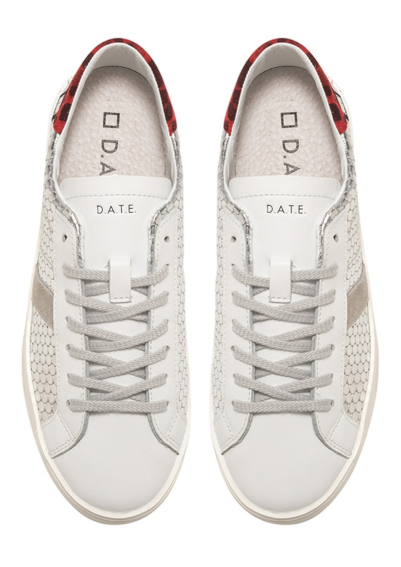 D.A.T.E Hill Low Leather Trainers - Pong Silver main image