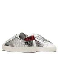 D.A.T.E Hill Low Leather Trainers - Pong Silver