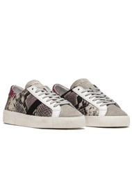 D.A.T.E Hill Low Leather Trainers - Wild Python