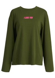 ESSENTIEL ANTWERP Watement Organic Cotton Long Sleeve Tee - Polo Green