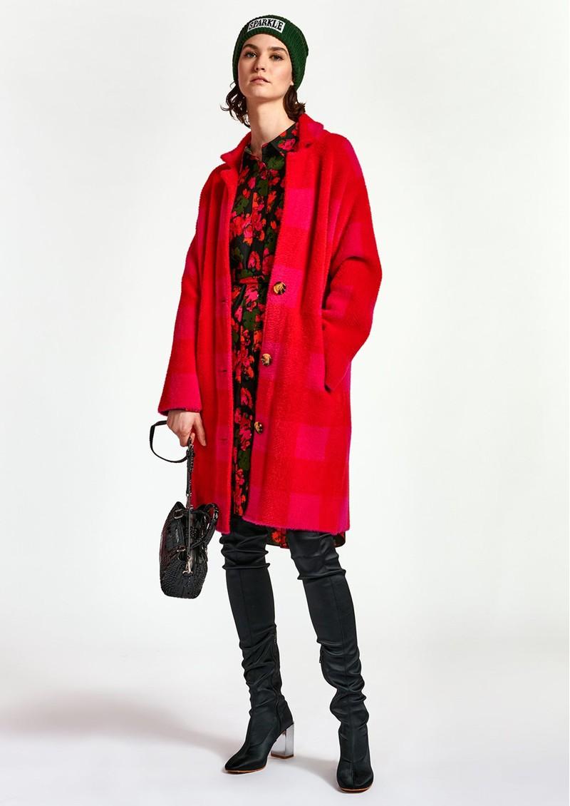 ESSENTIEL ANTWERP Wice Knit Coat - Red & Pink main image