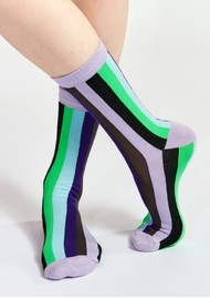ESSENTIEL ANTWERP Waradise Striped Socks - Combo 2 Black