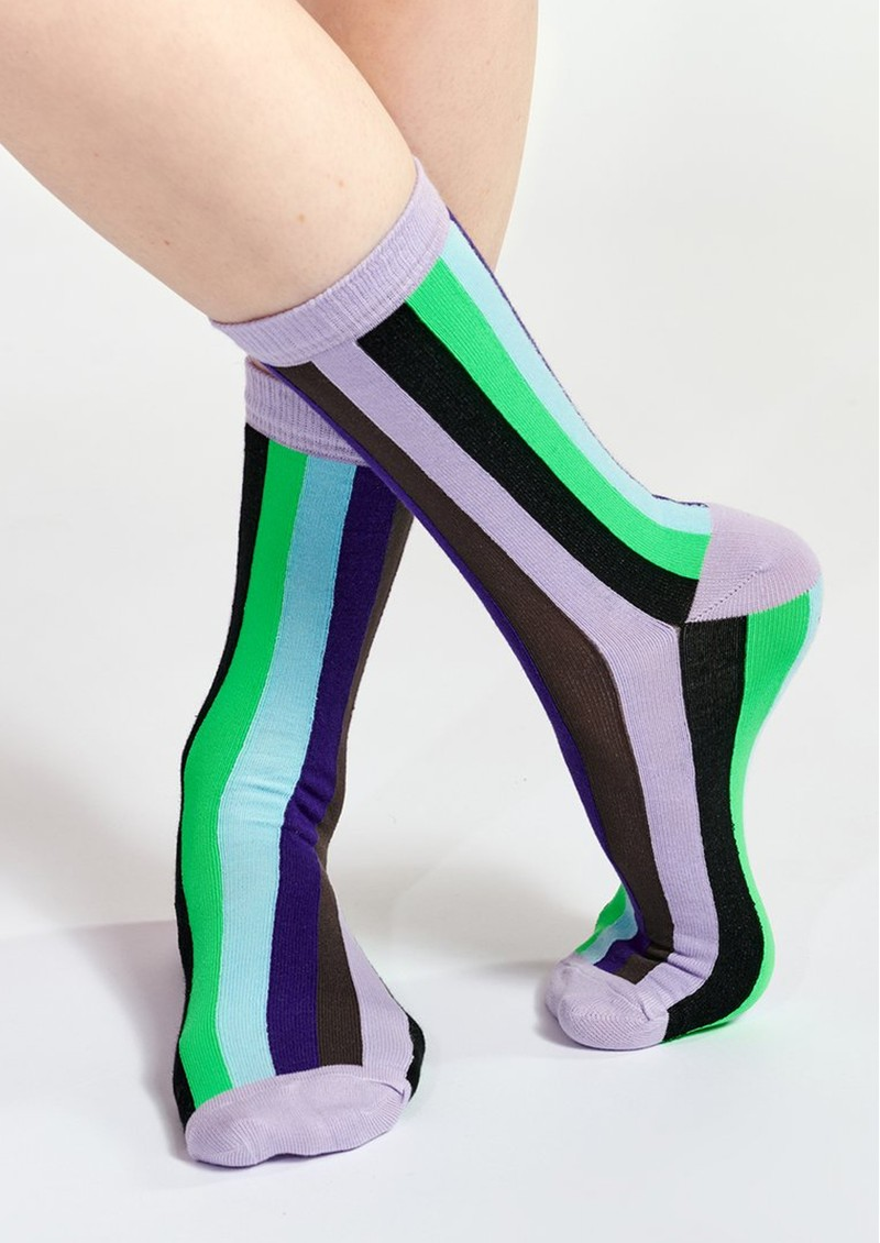 ESSENTIEL ANTWERP Waradise Striped Socks - Combo 2 Black main image