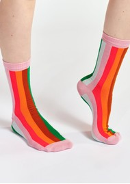 ESSENTIEL ANTWERP Waradise Striped Socks - Pink Icing