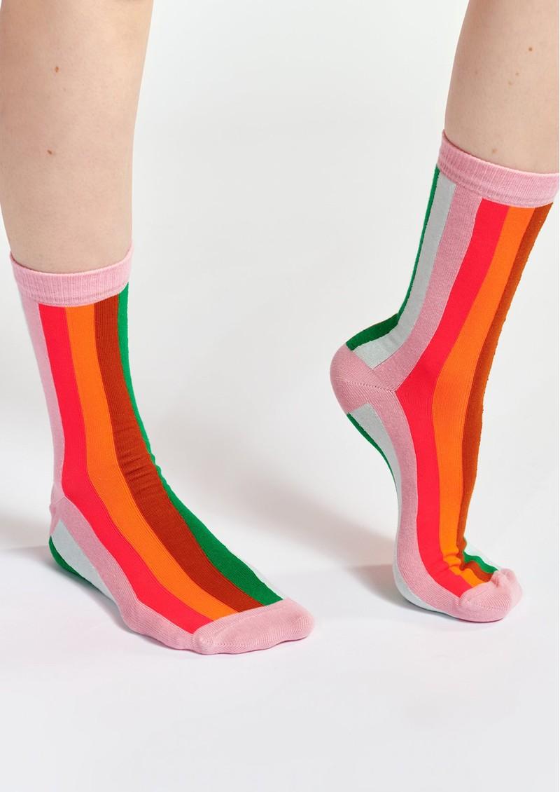 ESSENTIEL ANTWERP Waradise Striped Socks - Pink Icing main image