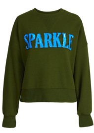 ESSENTIEL ANTWERP Warkle 'Sparkle' Organic Cotton Sweatshirt - Palace Green