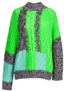 ESSENTIEL ANTWERP Wames Patchwork Jumper - Vista Green