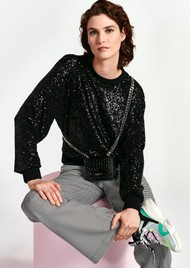 ESSENTIEL ANTWERP Wimmer Sequin Sweater - Black