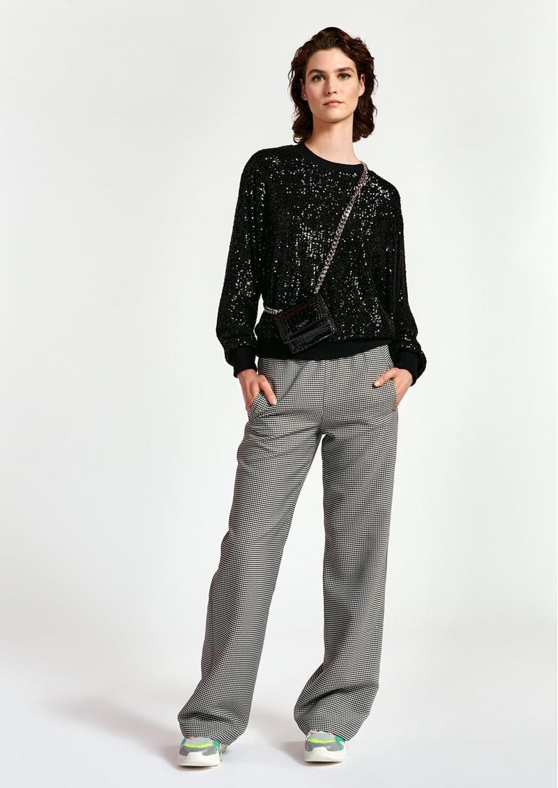 ESSENTIEL ANTWERP Wimmer Sequin Sweater - Black main image