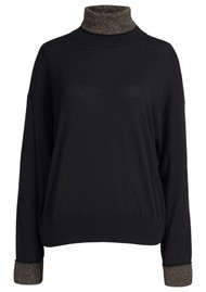 ESSENTIEL ANTWERP Wonly Roll Neck Jumper - Black