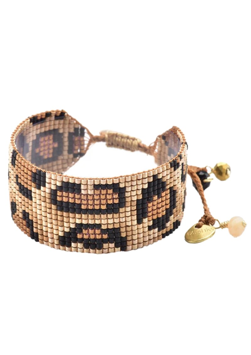 MISHKY Panthera Beaded Bracelet - Black & Copper main image