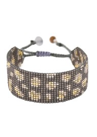 MISHKY Panthera Beaded Bracelet - Gunmetal & Gold