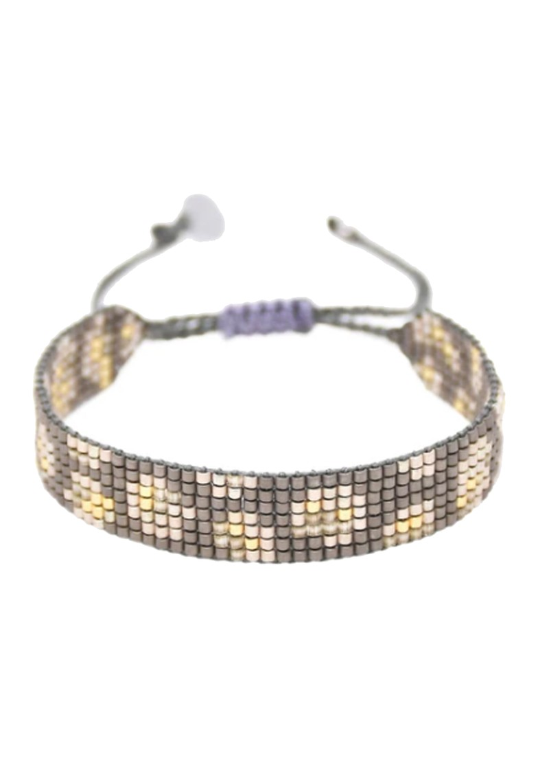 MISHKY Panthera Beaded Bracelet - Gunmetal main image