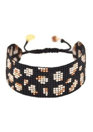 MISHKY Panthera Beaded Bracelet - Black, Copper & Beige