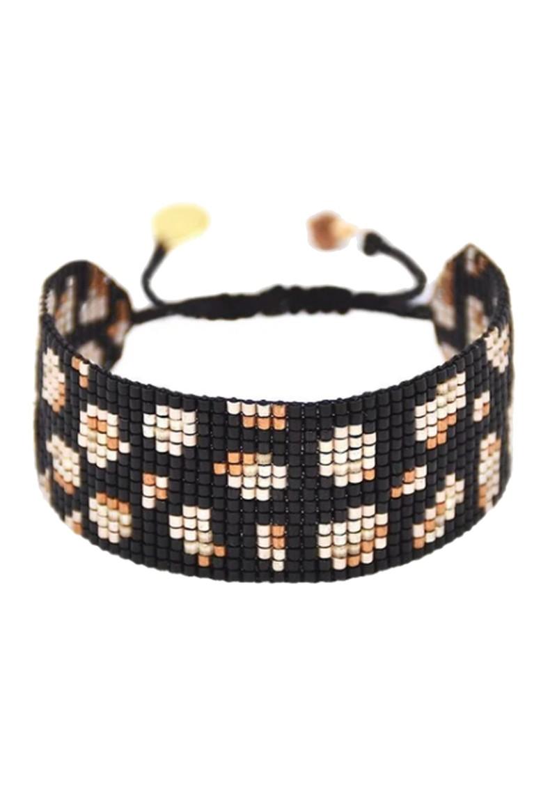 MISHKY Panthera Beaded Bracelet - Black, Copper & Beige main image